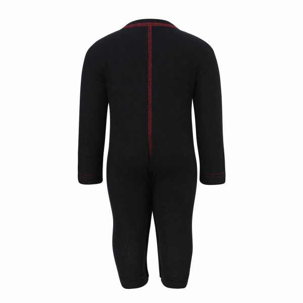 Romper With Red Trimming