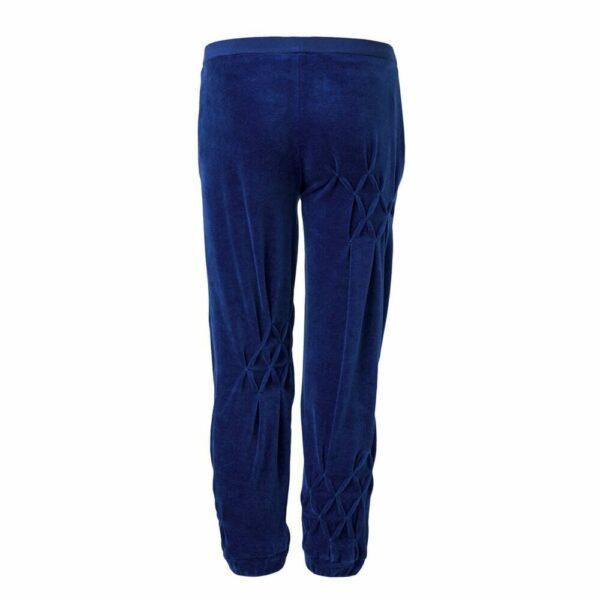 Blue Velvet Pants with Hand Smock