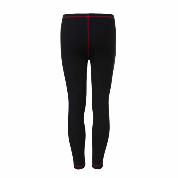Black Leggins with Red Trimming