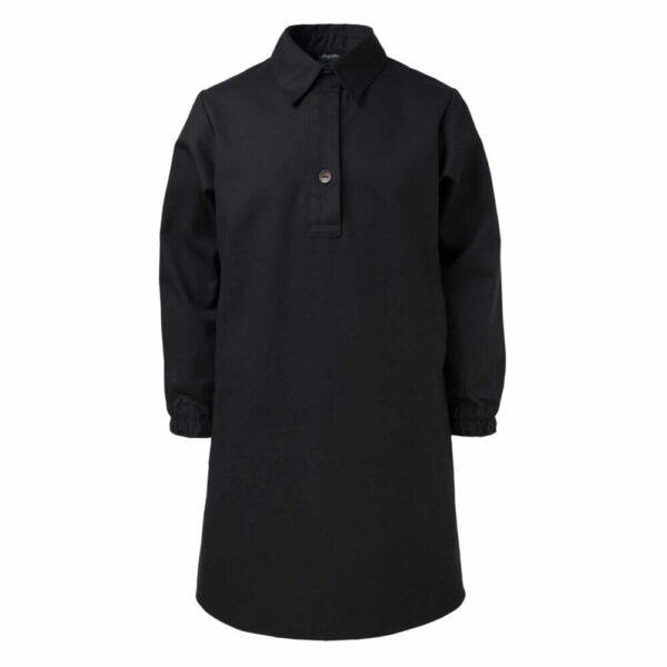 Black Shirt Dress With Panda Embroidery