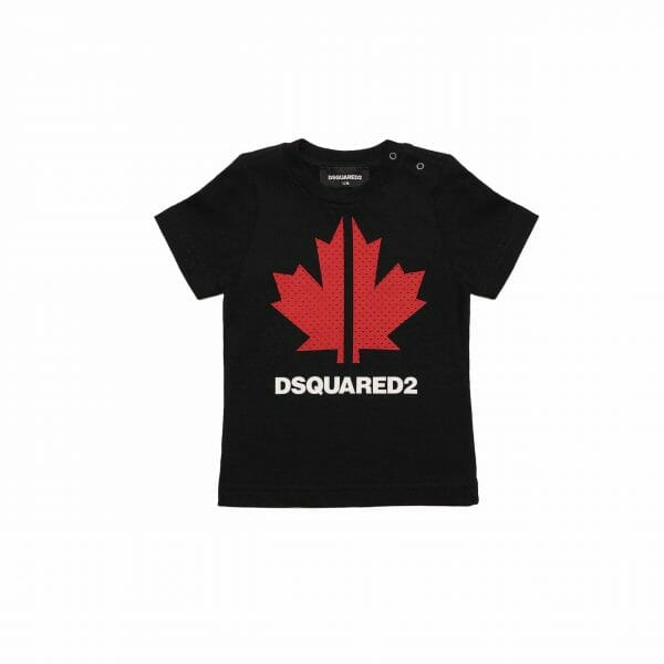 Black T-Shirt With Maple Leaf
