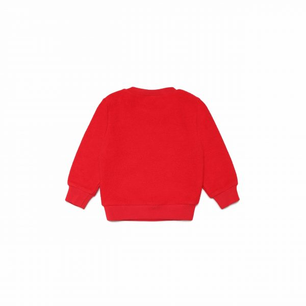 Red Sweatshirt With White Logo
