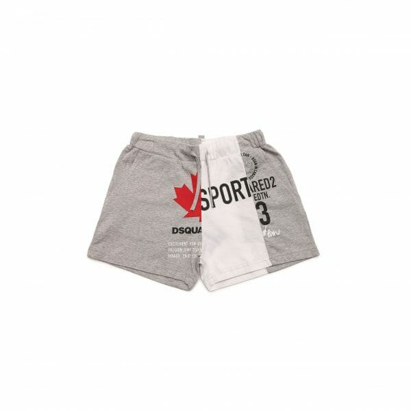 Grey And White Sports Shorts
