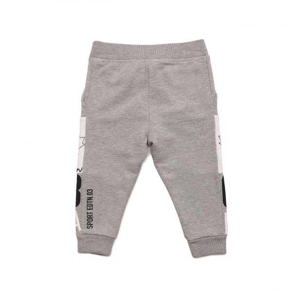 Grey And White Joggers