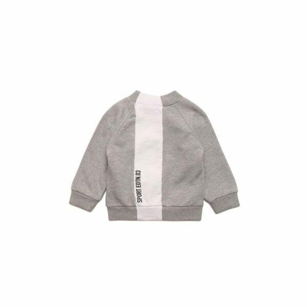 Grey And White Full Zip Sweatshirt