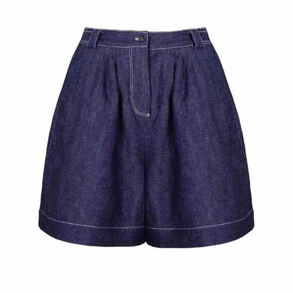 Denim Wide Leg Shorts