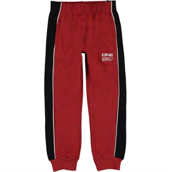 Dark Red Sweatpants 'One World'