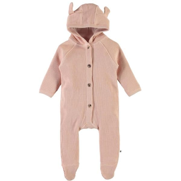 Knit Rose Sleepsuit With Buttons