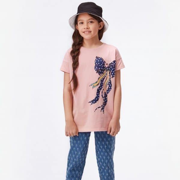 Rose T-Shirt With Bow Print