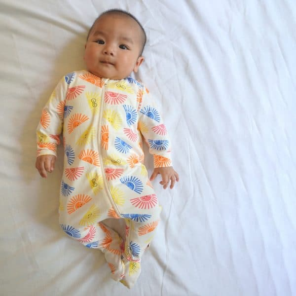 'Sunshine' Zip Front Sleepsuit