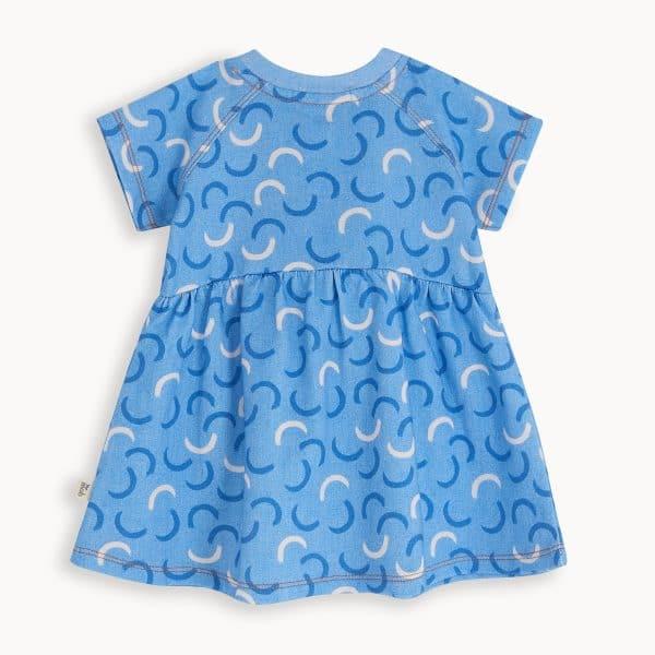 Blue Denim Waves Dress