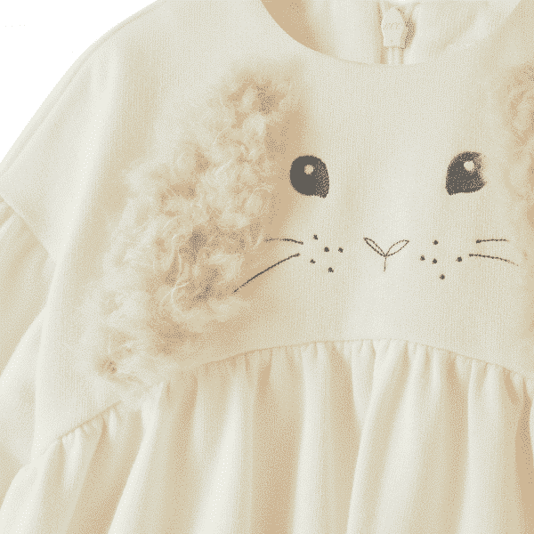 Cream Dress With Ears Application
