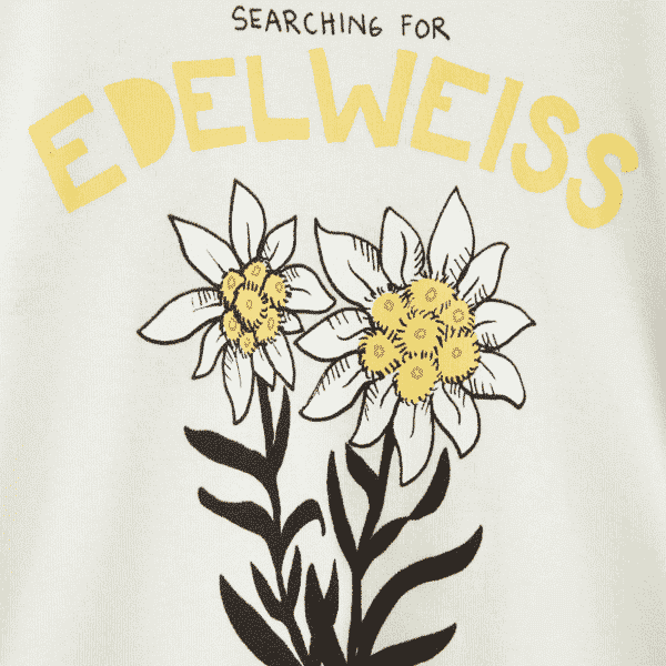 Edelweiss White T-Shirt