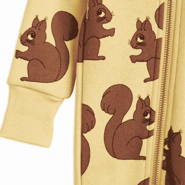 Yellow Squirrels Hoodie Bodysuit