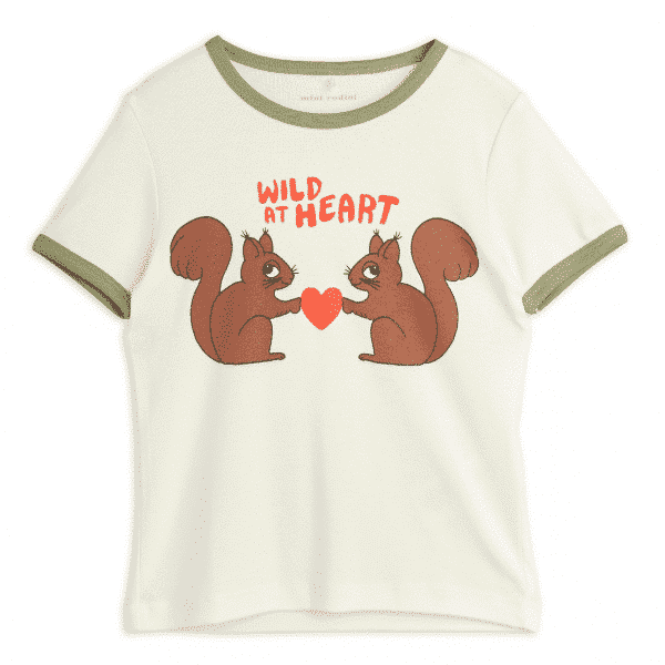White T-Shirt With Squirrels
