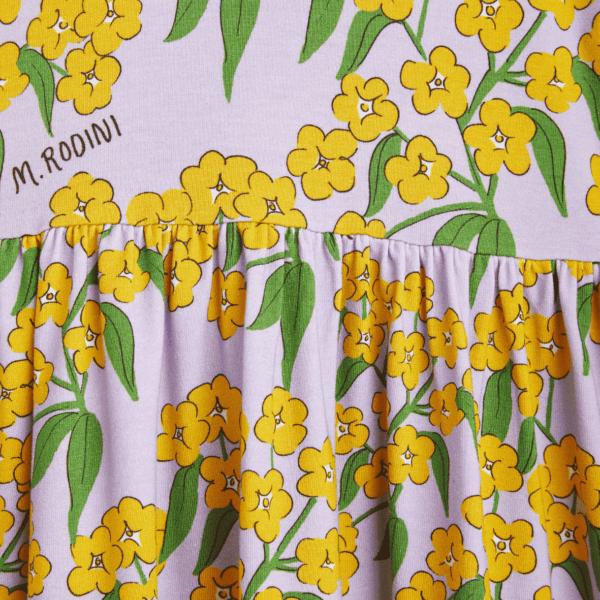 Midi Dress With Alpine Flowers Print