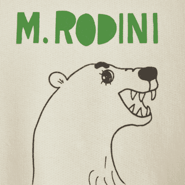 White T-Shirt With Polar Bear and Logo