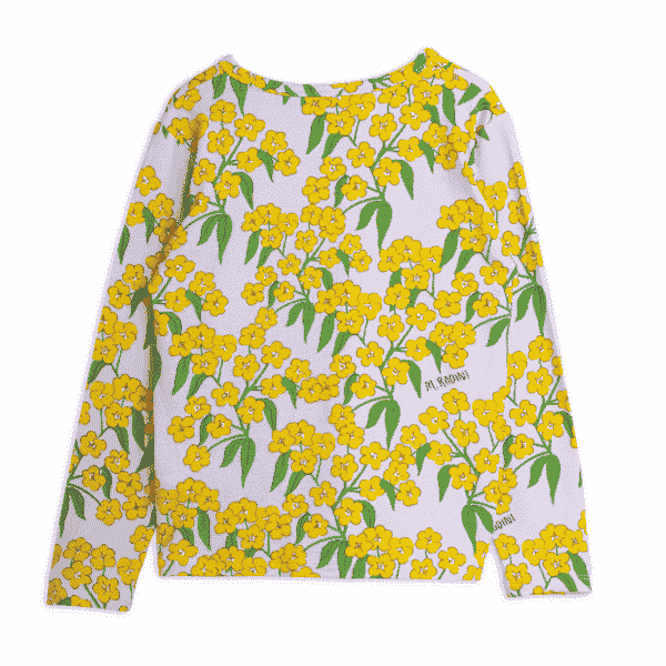 Long Sleeved Top With Alpine Flowers Print