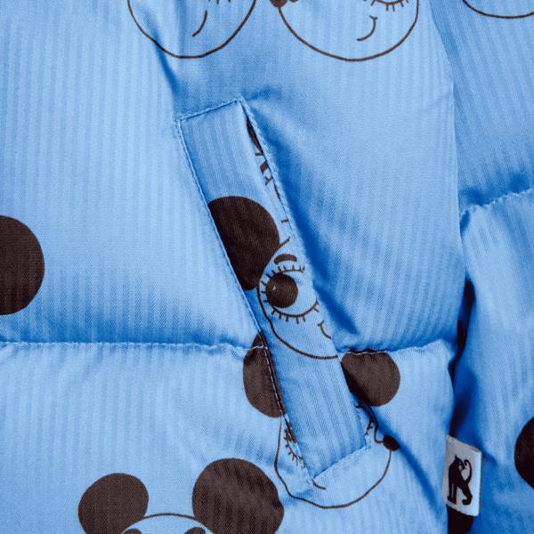 Blue Puffer With Ritzratz Print