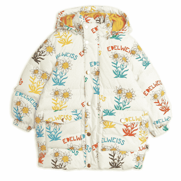 Oversize Puffer With Edelweiss Print
